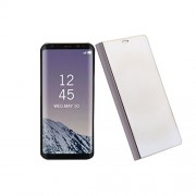 Rrimin Clear Mirror View Protective Flip Case Cover for Samsung Note 8 (Golden)