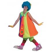 Deguisetoi Déguisement robe clown fluo femme