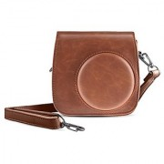 BeneU Instax Mini 8 Case Instant Film Camera PU Leather Carrying Compact Bag Case with Pocket for Fujifilm Instax(Brown)