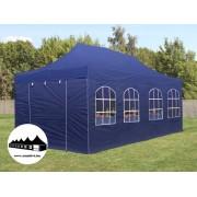 3x6m összecsukható pavilon ablakos kék Professional