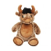 "Puzzled Sitting Buffalo Super Soft Stuffed Plush Cuddly Animal Toy Animals Collection 9"" Inch Unique Huggable Loveable New Friend Gift Item #5007"