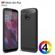 Motorola Moto G6 Plus Удароустойчив Carbon Fiber Калъф и Протектор