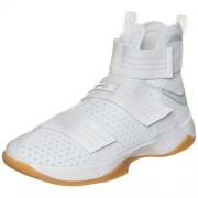 Nike Mens Lebron Soldier 10 SFG White/Metallic Silver Mesh Size 8. 5