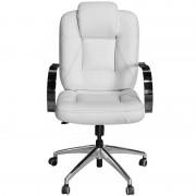 Cadeira Mônaco Giratória Branca Costura Preta para Dentistas e Clínicas