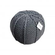 Pletený puf CRAZYSHOP MELON, tmavě šedý (ručně pletený)