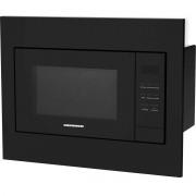 Cuptor cu microunde incorporabil Heinner HMW-23BI-BK, 800 W, 23 l, Grill, Control digital, Kit, Sticla neagra