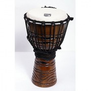 Toca TODJ-8AM Origins Series Wood Rope Tuned Wood 8-Inch Djembe - African Mask Finish
