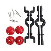 Cecileie Upgrade Metal Front and Rear Axle Housing with Screws For WPL & MN RC Universal Military Truck RC Car Spare Parts