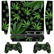247Skins Designer Skin for Sony PlayStation PS3 SLIM System & Remote Controllers -Weeds Black