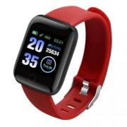 Bratara Fitness iUni 116 Plus Bluetooth Notificari Pedometru Monitorizare sedentarism Puls Oxigen sange Red Bonus Bratara Roca Vulcanica unisex