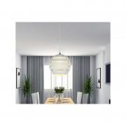 Lámpara colgante con forma de bola y acabado en blanco casa de hoy