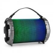 Dr. Bang LED 2.1-BT-Lautsprecher 20W RMS USB micro SD AUX Akku LED metallic