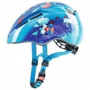 Uvex - Kid 2 - Casque de cyclisme taille 46-52 cm, bleu/turquoise/gris