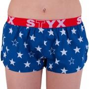 Styx Dámské trenky Styx art sportovní guma hvězdy (T658) S