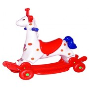 Bluday Camel 2 in 1 Horse Rocker 'n' Ride on, Horse Rocker for Kids Under 1500, Riding Horse for Kids , Riding Horse for Baby, Rider Horse 2-in-1 Rocker Cum Ride-On Toy for Kids