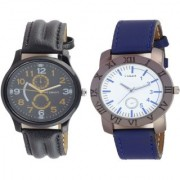 I smart Brand Smart Look Leather Watch 1 - 8 for Men combo watches Watch - For Men