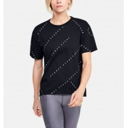 Under Armour Women's UA Logo Print Live Short Sleeve Black XL