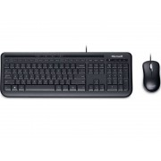 Microsoft Wired Desktop 600 Keyboard & Mouse Black USB Busin