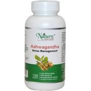 Naturz Ayurveda Ashwagandha - 120 count-350mg Pure Ashwagandha root powder and extract - One Capsule per serving