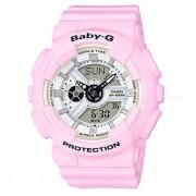 reloj digital analogico estandar casio baby-g BA-110BE-4A - correa rosa y estuche rosa