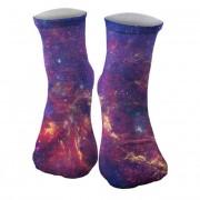 Mr. Gugu & Miss Go Purple Nebula Unisex Midi Socks SOM005
