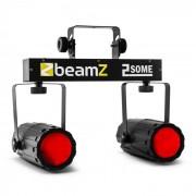 Beamz 2-Some Clear Juego de luces LED RGBW Con micrófono (Sky-153.747)