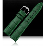 Watch Strap 12mm 14mm 16mm 18mm 20mm 22mm Mens Womens Green 100% Genuine Crocodile Pattern Leather Watch Strap Bands Bracelets