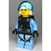 cty1000 Minifigurina LEGO City-Pilot politist fata cty1000