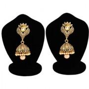 Jewels Gold Party Wear For Wedding Latest Stylish Golden Fancy Jhumki Earring Set For Women Girls