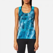 Asics Women's Fitted GPX Tank Top - Crystal Blue/Condition Print - M - Blue