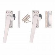 Bellatio Design 6x stuks raamboom / raamsluitingen linkshandig inclusief sluitplaat L10,4 x H4,5 cm - raamknip