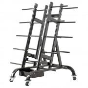 Megafitness Shop Hantel-Set Ständer / Rollwagen - schwarz - für bis zu 30 Set`s