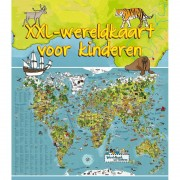 Geen Wereldkaart dieren XXL voor kinderen