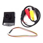 NTR CAM10 Mini HD fémházas kamera, 700TVL, 12V DC 5,5x2,1mm táp aljzat, 1xBNC aljzat