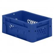Schwerlast-Euro-Behälter, Polypropylen Inhalt 4,1 l, LxBxH 300 x 200 x 120 mm, Wände durchbrochen Boden geschlossen, blau, VE 8 Stk