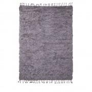 Drawer Nanda Devi - Tapis shaggy en laine - Couleur - Gris, Dimensions - 160x230 cm