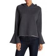 Melrose and Market Bell Sleeve Hooded Sweatshirt GREY MEDIUM CHARCOAL HEATHER