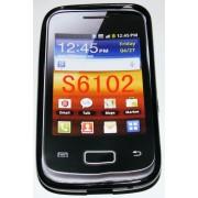 Силиконов гръб ТПУ за Samsung S6102 Galaxy Y Duos Черен