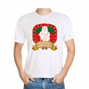 Shoppartners Foute Kerst t-shirt wit take me it's christmas