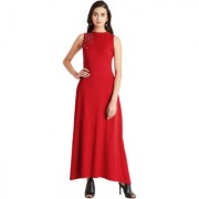 Miss Chase Women's Red Flipped In My Head Pearl Maxi Dress
