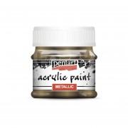 Pentart Metál csillogó arany színű akril bázisú hobbi festék 50 ml