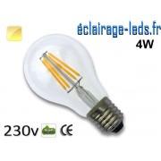 Ampoule LED E27 filament 4w blanc chaud 230v