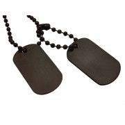 Dogtags Private Steel Black – utan gravyr