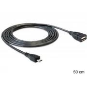 Cablu adaptor USB A mama-micro B Delock OTG 50cm