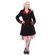 manteau pour femmes printemps-automne HEARTS AND ROSES - Noire Rouge Flocage - 9633 B R