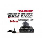 Statie Radio CB STORM Discovery 4W + Antena Radio CB Megawat ML145 cu Magnet Megawat 145PL