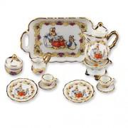 Dollhouse Miniature 1:12 Scale Peter Rabbit Tea Set for Two