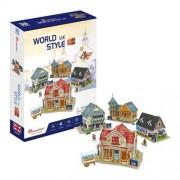 CubicFun Case traditionale din UK Puzzle 3D 171 piese