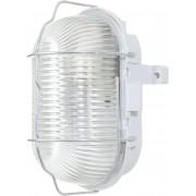 Lampă ovală cu coş de protecţie, E27, max. 60 W, gri