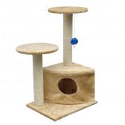vidaXL Cat Play Tree 70 cm Beige Plush